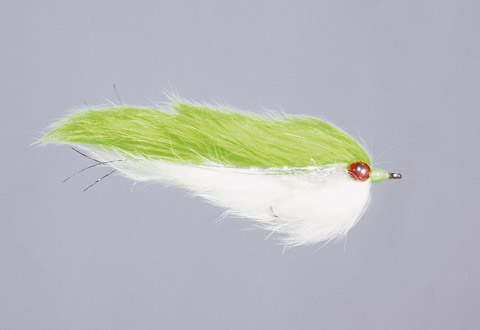 Chartreuse/White Double Bunny