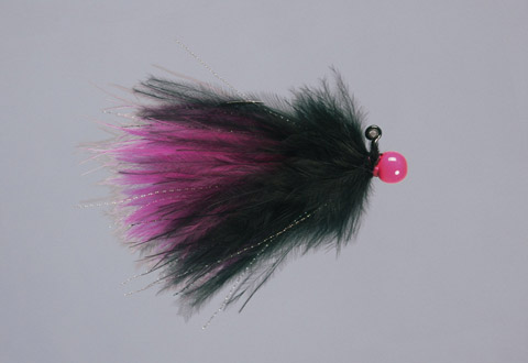 Rainy's Black/Cerise Hot-Head Marabou Jig