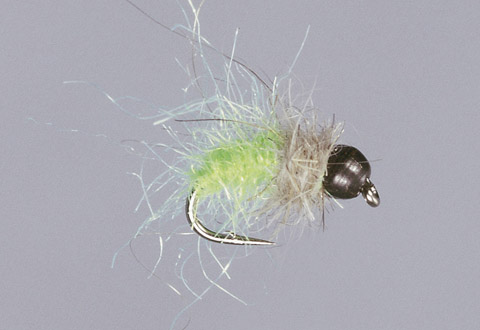 BH Lime Green Sparkle Caddis