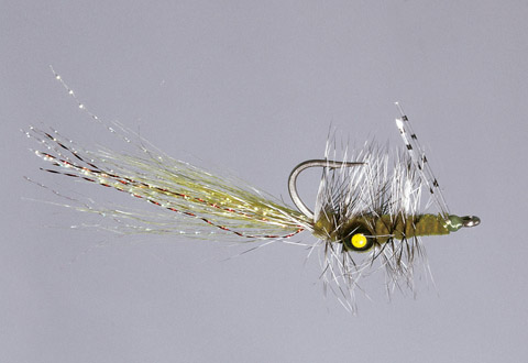 Olive Missing Link Bonefish Fly - WG