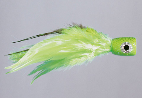 Rainy's CB Chartreuse Poppin Feather-Head - FM