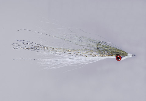 Clouser's Olive/White Deep Minnow