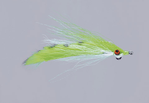 Clouser's Chart/White Barred Fur Strip Minnow