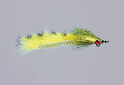 Clouser's Yellow/Olive Barred Mad Tom