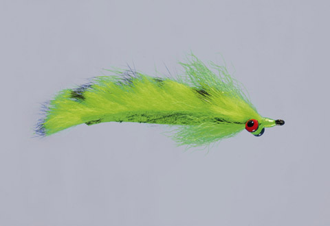 Clouser's Chartreuse Barred Mad Tom