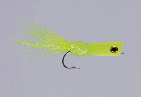 Lefty's Chartreuse SW Popping Bug, Chartreuse, Lefty's - FM