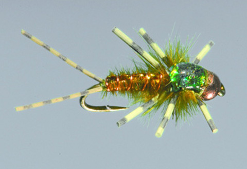 Swink's Clinger Nymph, Olive/Brown